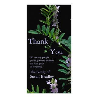 Indigo 2 Floral Photography - Sympathy Thank You Photo Card