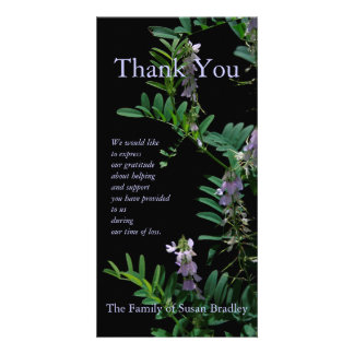 Indigo 3 Floral Photography - Sympathy Thank You Picture Card