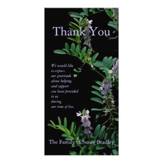 Indigo 3 Floral Photography - Sympathy Thank You Photo Card