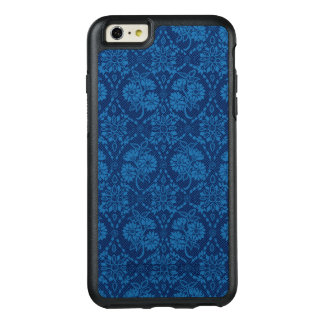 Indigo Blue Floral Faux Lace Pattern OtterBox iPhone 6/6s Plus Case
