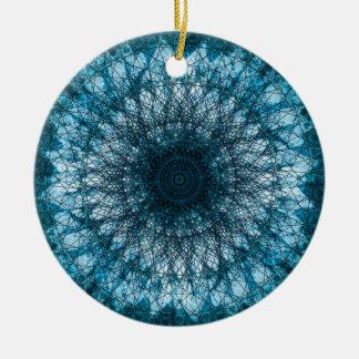 Indigo Blue Mandala Christmas Ornament