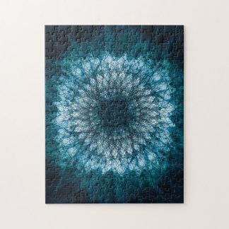 Indigo Blue Mandala Jigsaw Puzzle