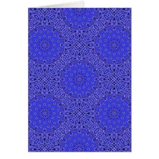 Indigo Blue Paisley Western Bandana Scarf Print Card