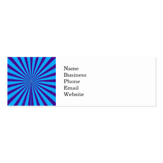 Indigo Blue Purple Starburst Sun Rays Tunnel View Business Card