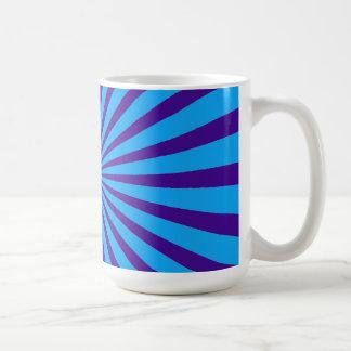 Indigo Blue Purple Starburst Sun Rays Tunnel View Coffee Mugs