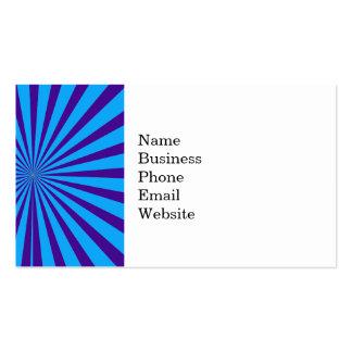 Indigo Blue Purple Starburst Sun Rays Tunnel View Pack Of Standard Business Cards