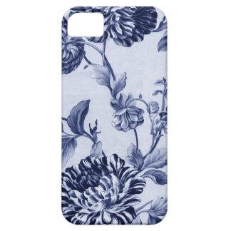 Indigo Blue Vintage Floral Toile Fabric No.2 iPhone 5 Cases