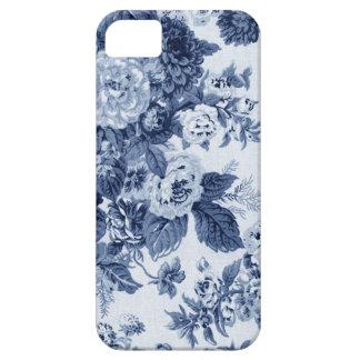 Indigo Blue Vintage Floral Toile Fabric No.3 iPhone 5 Case