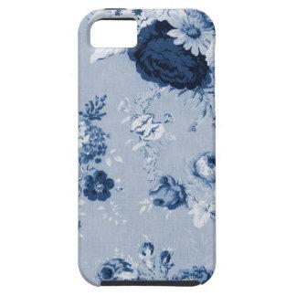 Indigo Blue Vintage Floral Toile Fabric No.5 Tough iPhone 5 Case