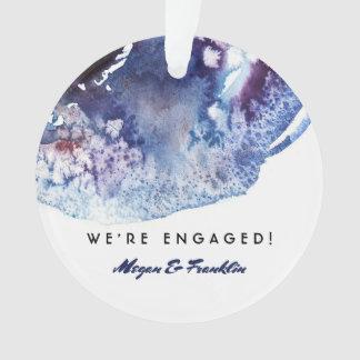 Indigo Blue Watercolor Modern Wedding / Engagement