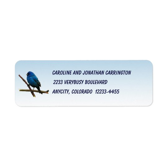 Indigo Bunting Return Address Label