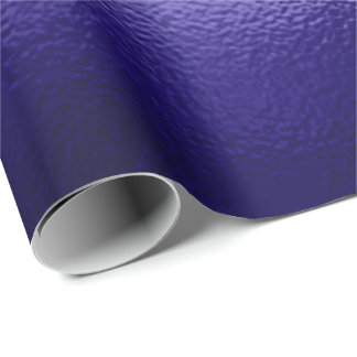 Indigo Cobalt Blue  Deep Navy Frozen  Glass Wrapping Paper