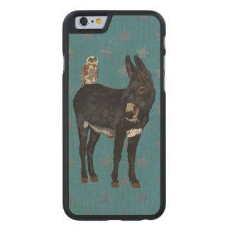INDIGO DONKEY & COPPER OWL CARVED MAPLE iPhone 6 CASE