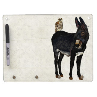 INDIGO DONKEY & OWL Dry Erase Board