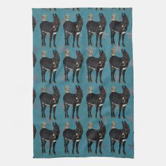 INDIGO DONKEY & OWL Towel