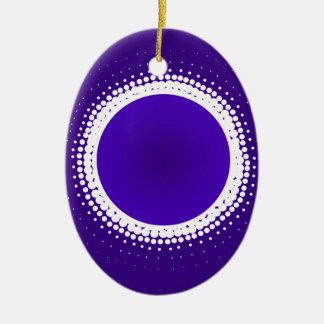 Indigo Eclipse Christmas Ornament