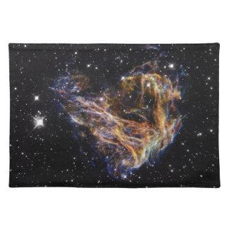 Indigo Edged Stellar Debris Cloud Placemat