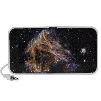Indigo Edged Stellar Debris Cloud Portable Speakers