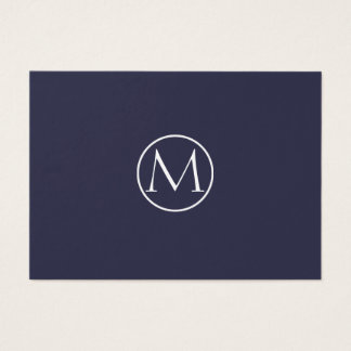 Indigo Elegant Monogram Business Card