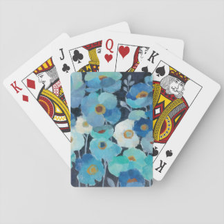Indigo Flowers Poker Deck