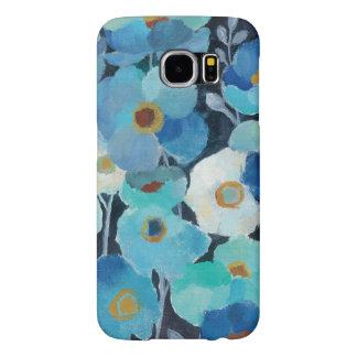 Indigo Flowers Samsung Galaxy S6 Cases