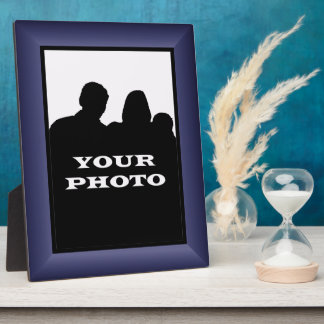 Indigo Frame Your Photo 8 x 10 Vertical Plaque