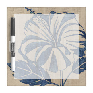 Indigo Hibiscus Dry Erase Whiteboards