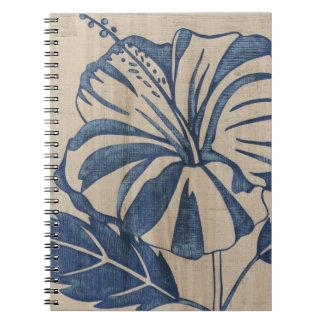 Indigo Hibiscus Notebooks