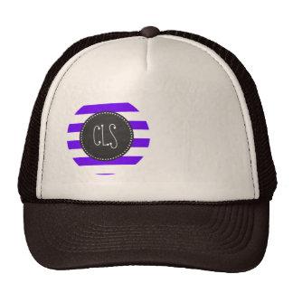 Indigo Horizontal Stripes; Chalkboard Cap