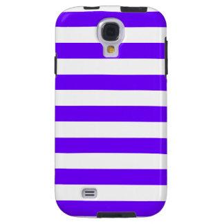 Indigo Horizontal Stripes; Striped Galaxy S4 Case
