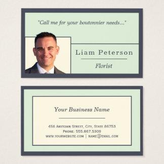 Indigo Ivory Hues Edge Nested Freelance Template Business Card