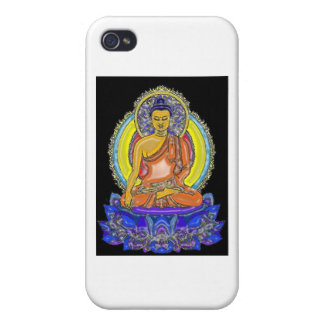 Indigo Lotus Buddha iPhone 4 Case