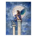 Indigo Moon Fairy and Cat Postcard