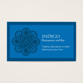 Indigo Ornament
