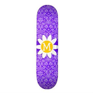 Indigo Purple Damask Daisy Skateboards