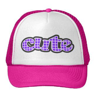 Indigo, Purple Gingham Trucker Hat