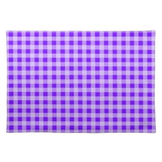 Indigo, Purple Gingham Place Mats