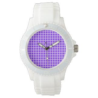 Indigo, Purple Gingham Wristwatches