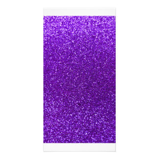 Indigo purple glitter photo card