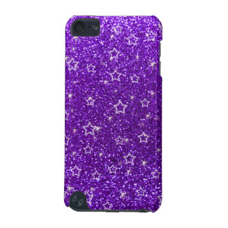 Indigo purple glitter stars iPod touch 5G cases