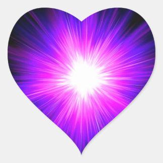 Indigo purple healing flame reiki divine energy heart sticker