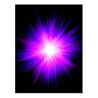 Indigo purple healing flame reiki divine energy postcard