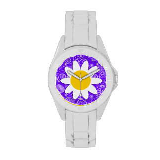 Indigo, Purple Paisley; Daisy Watches