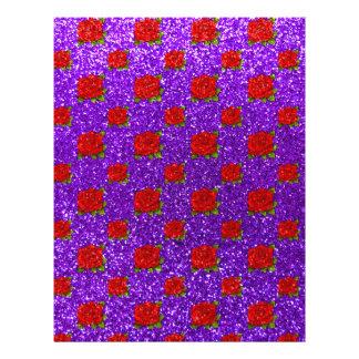 Indigo purple roses glitter full color flyer
