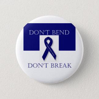 Indigo Ribbon- Don't Bend. Don't Break. DBI 6 Cm Round Badge
