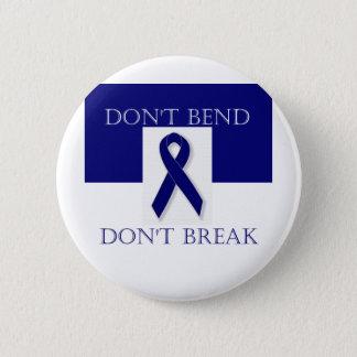 Indigo Ribbon- Don't Bend. Don't Break. DBI. 6 Cm Round Badge
