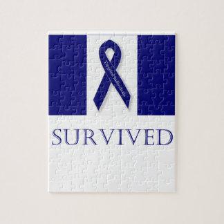 Indigo Ribbon. I Survived. DBI Puzzles