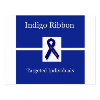 Indigo Ribbon  In Celebration Postcard