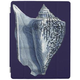Indigo Shells I iPad Cover