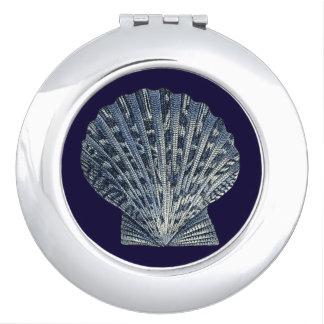 Indigo Shells VIII Compact Mirror